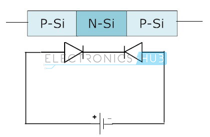 3 .back to back connection of diode