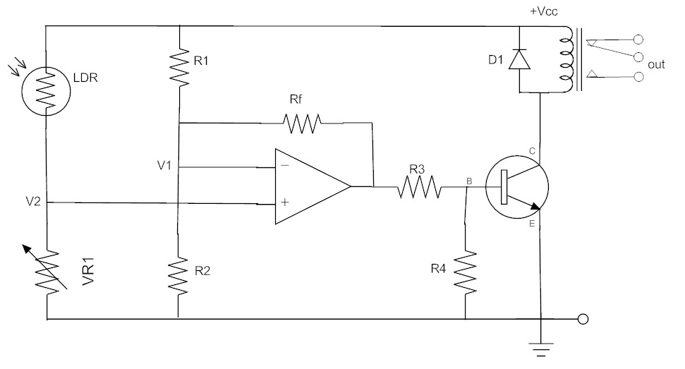 3. Light activated differential amplifier