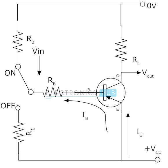 4. Circuito para el transistor PNP como interruptor