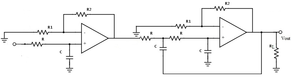 Fig: Third-order Butterworth Low Pass Filter