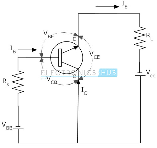 common base configuration circuit diagram