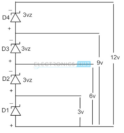 6. Zener Diode connected in Series