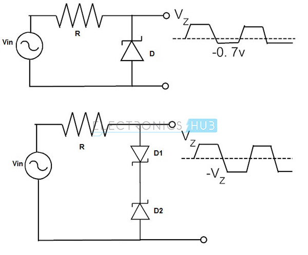 limiting with full wave zener diodes