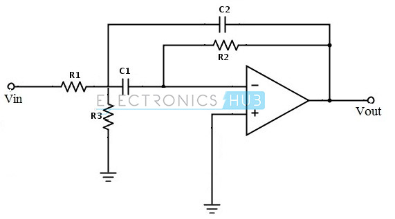 7. Multi Feedback Active Band Pass Filter