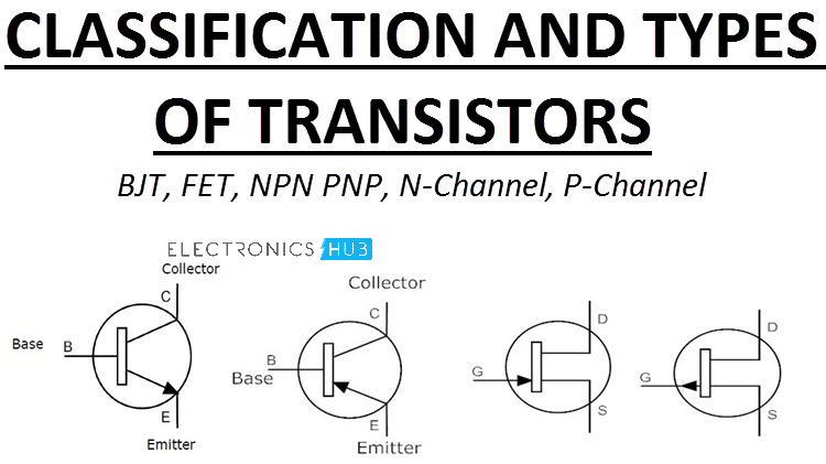Types of Transistors - Junction Transistors and FETs