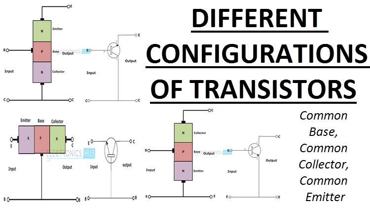 Different Configurations of Transistors - Common Base, Collector