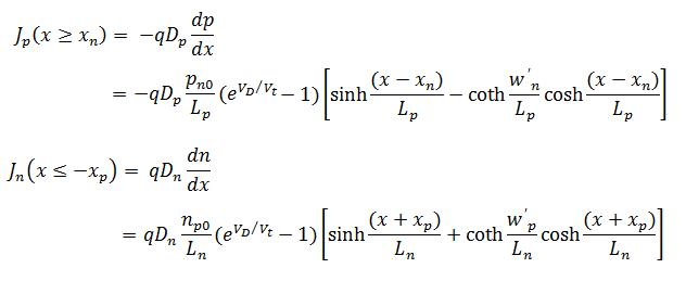 pn junction diode current equation derivation pdf