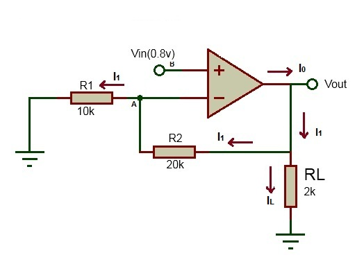 non inverting operational amplifiers working and applications rh electronicshub org Non Inverting Unity Gain Amplifier circuit diagram of non inverting amplifier using op amp