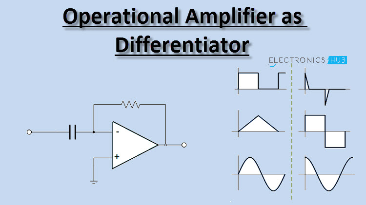 operational amplifier as differentiator circuit applicationsDifferentiator Operator With Op Amp #3