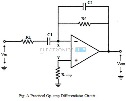 Practical Op-amp Differentiator Circuit