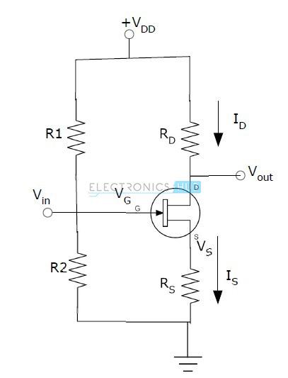 8.Common source amplifier circuit of JFET