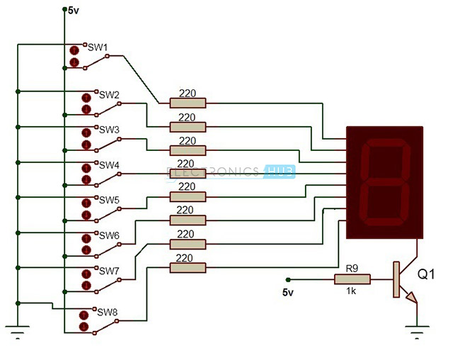 7 Segment Display Pinout Decoder Types And Applications