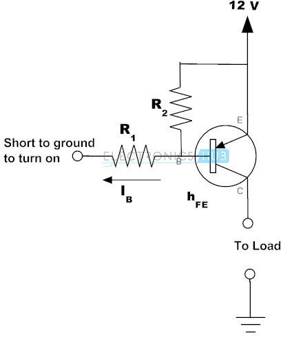 Ejemplo de PNP Transistor