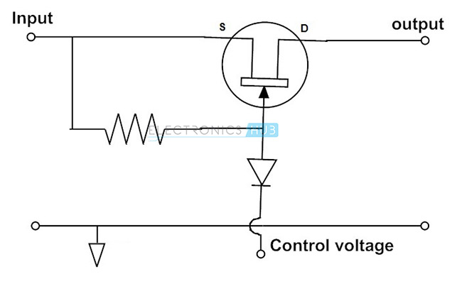 FET as a series Switch Circuit fet as a switch working of mosfet or jfet as a switch