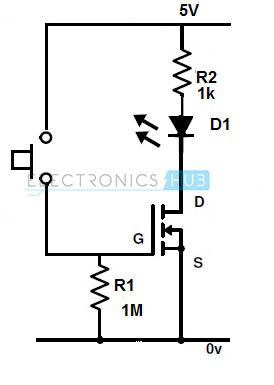 MOSFET para cambiar el LED
