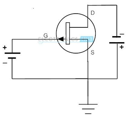 P Channel JFET como circuito de conmutación