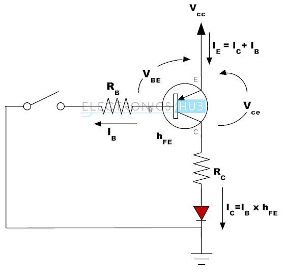 Transistor PNP como un interruptor