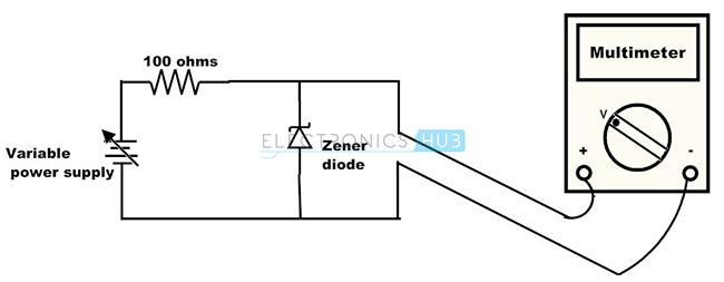 Prueba del diodo Zener