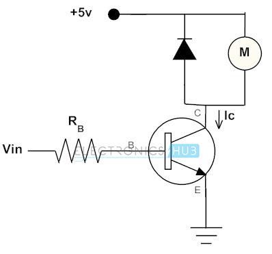 Transistor para conducir el motor