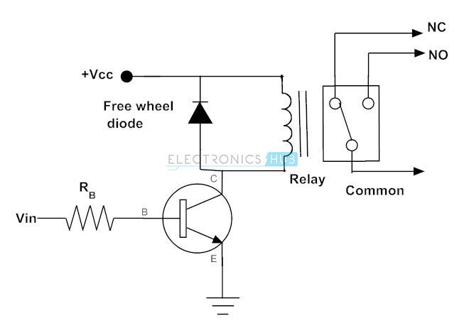 Transistor para operar el relé