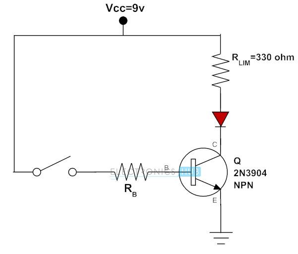 Transistor para cambiar el LED