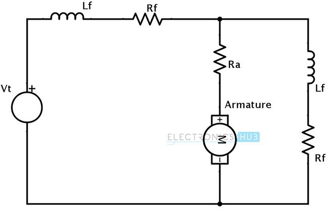 Acumulativo Circuito equivalente de circuito combinado de motor