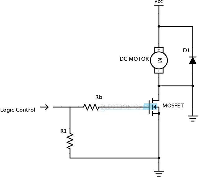 Circuito direccional unitario de conducción de motor