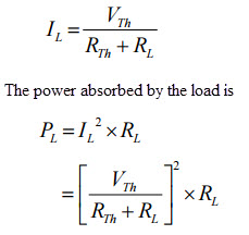 maximum power transfer theoremform the above expression the power delivered depends on the values of rth and rl however the thevenin\u0027s equivalent is constant, the power delivered from