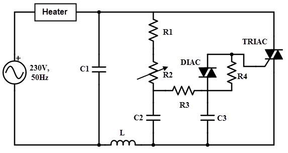 thyristor heater control circuit