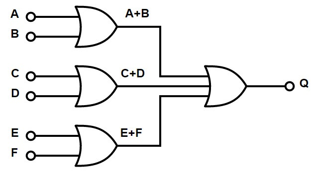 6 input or gate