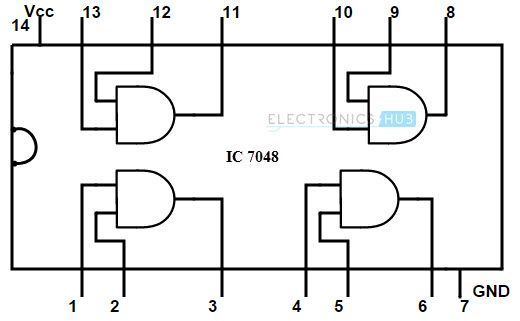 block diagram of ic 7408 wiring diagram for light switch \u2022 diagram of iso digital logic and gate rh electronicshub org 7402 nor gate diagram 7408 chip schematic