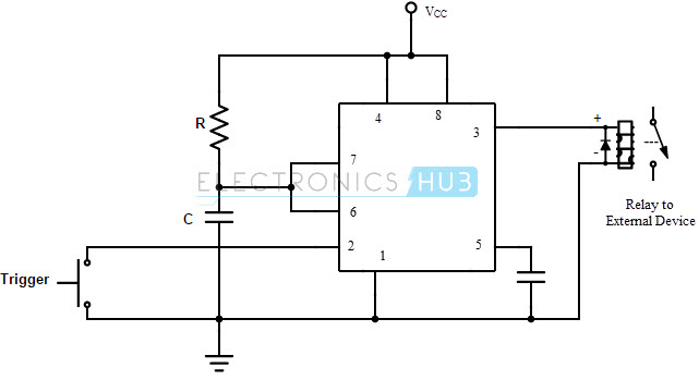 Monostable Multivibrator driving a Relay