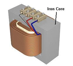 inductor with iron core