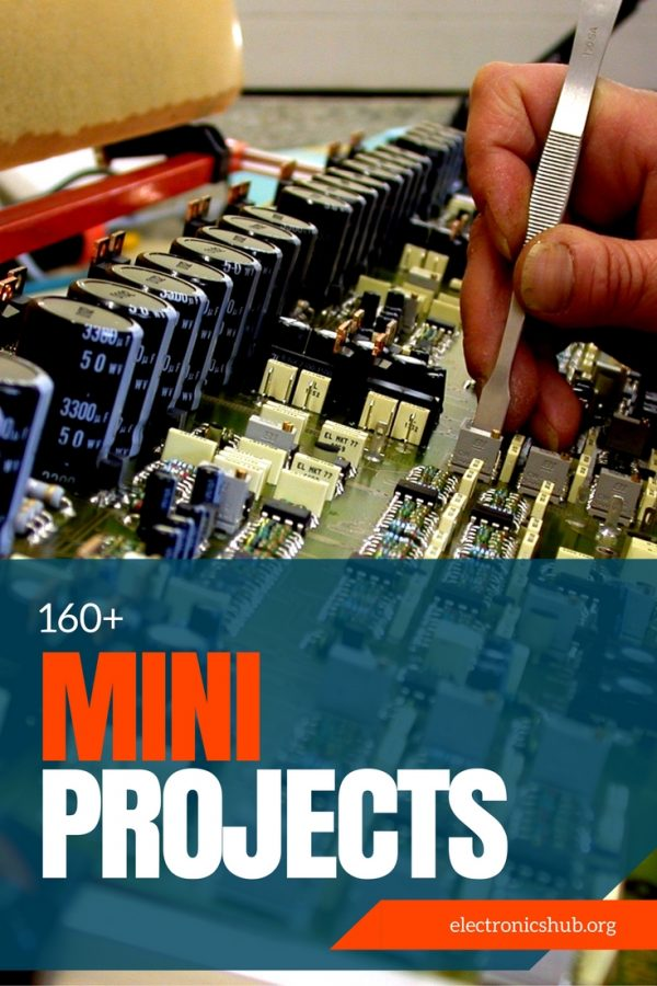 170 Free Electronics Mini Projects Circuits For