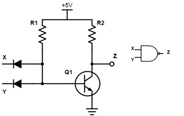 universal gates nand gate rh electronicshub org rtl nand gate circuit diagram nand gate circuit diagram using diode