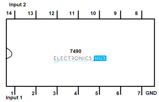 decade counter bcd counter rh electronicshub org ic 7490 pin diagram pdf ic 7490 pin diagram and truth table
