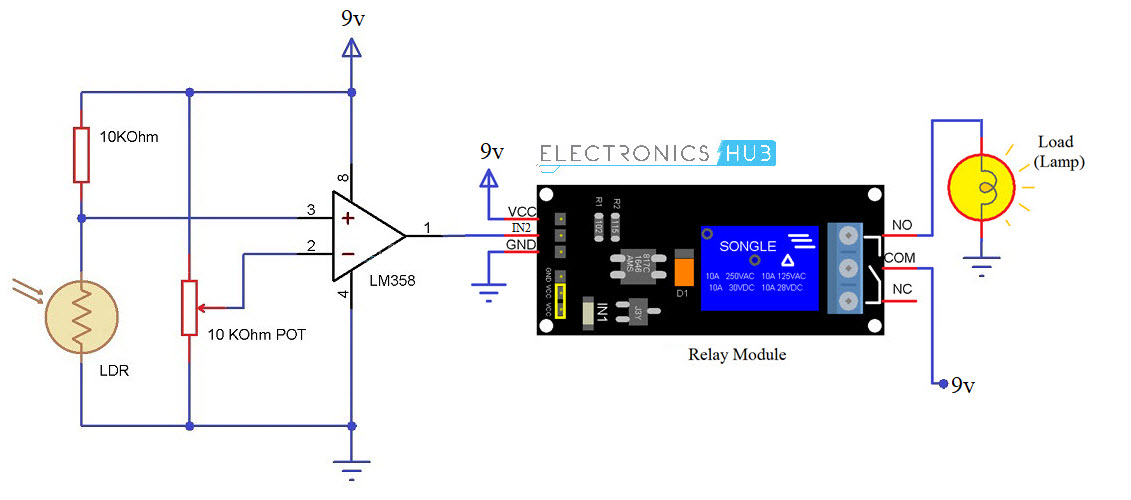 automatic street light controller circuit diagram
