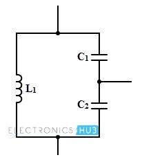 Colpitts Oscillator Tank circuit