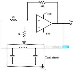 Colpitts Oscillator using Op-amp
