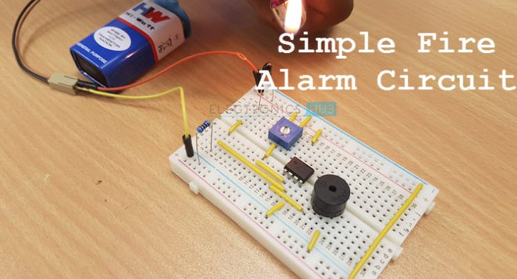 Simple Fire Alarm Circuits at Low Cost