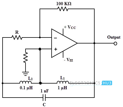 Hartley Oscillator Circuit Diagram | Hartley Oscillator Working Design Using Op Amp