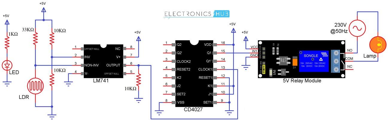 Circuito inalámbrico con circuito CD4027 Diagrama 1
