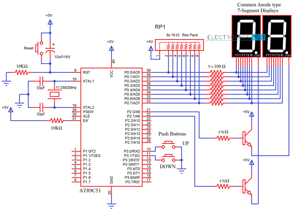 Up Down Counter Circuit Diagram - Data Wiring Diagrams  Segment Display Wiring Diagram on ldr wiring diagram, dc voltage source wiring diagram, transformer wiring diagram, stepper motor wiring diagram, capacitor wiring diagram, xnor wiring diagram, resistor wiring diagram, spst switch wiring diagram, spdt switch wiring diagram, 555 timer wiring diagram, lcd wiring diagram, ac voltmeter wiring diagram, potentiometer wiring diagram, led wiring diagram, relay wiring diagram, simple light wiring diagram, dc motor wiring diagram, push button wiring diagram, dc voltmeter wiring diagram,