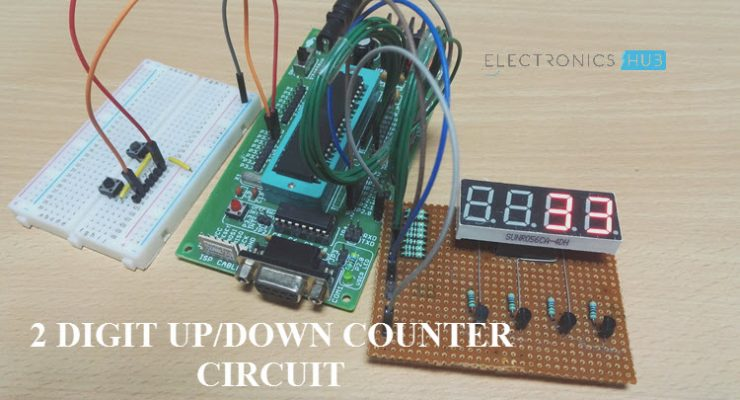 2 Digit Up/Down Counter Circuit
