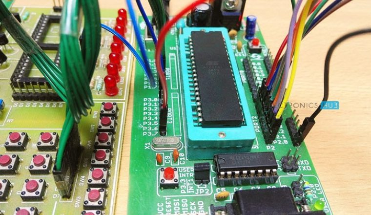 8 Channel Quiz Buzzer Circuit Using Microcontroller  8051