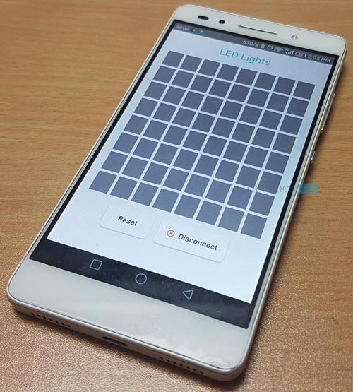 Arduino 8x8 LED Matrix Android App