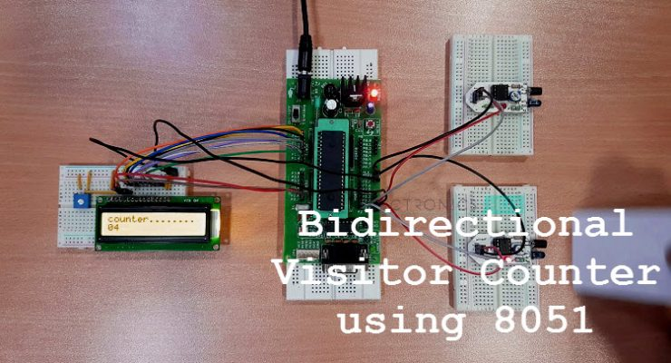 Bidirectional Visitor Counter using 8051 Microcontroller
