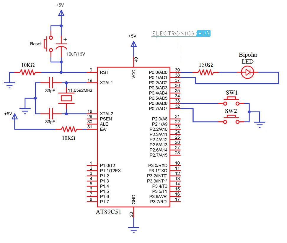 How Bipolar Led Driver Circuit Using Microcontroller Works