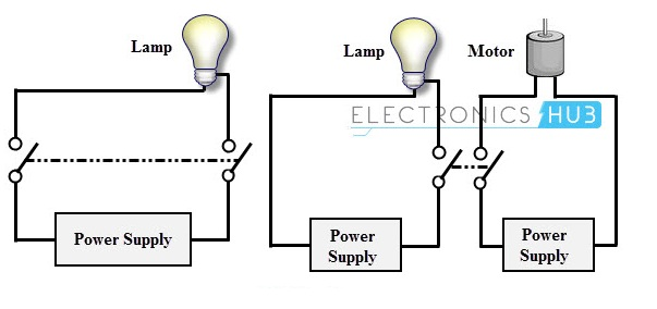 Dpst example types of switches wiring diagram for double pole double throw switch at bakdesigns.co