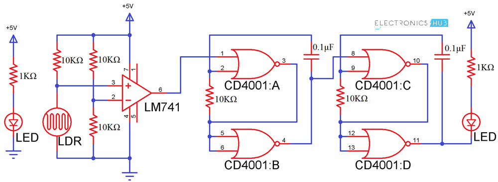 Electronic Letter Box Circuit Diagram 2